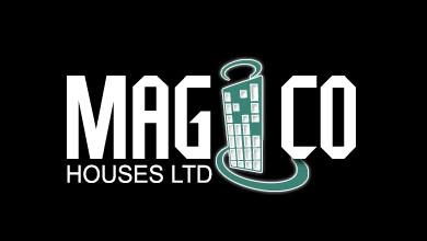 Magico Wood Houses Logo