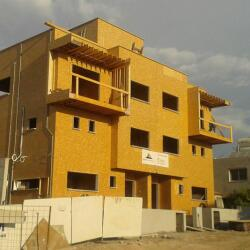 Timber Frame Construction Of A Building