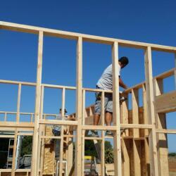 Timber Frame Prosess Of House Construction In Paliometocho